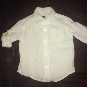 Janie & Jack White Seersucker Button-up Shirt 6-12